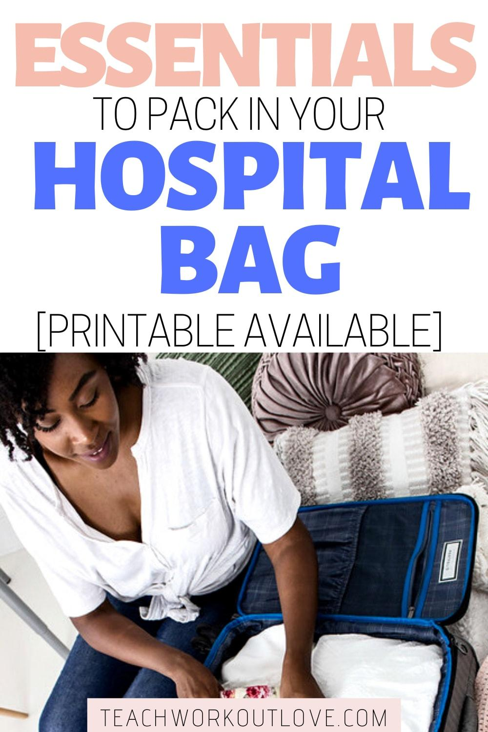 Are you having a baby soon? Make sure to start packing your hospital bag early. Not sure what to pack? We've got you covered + printable checklist!