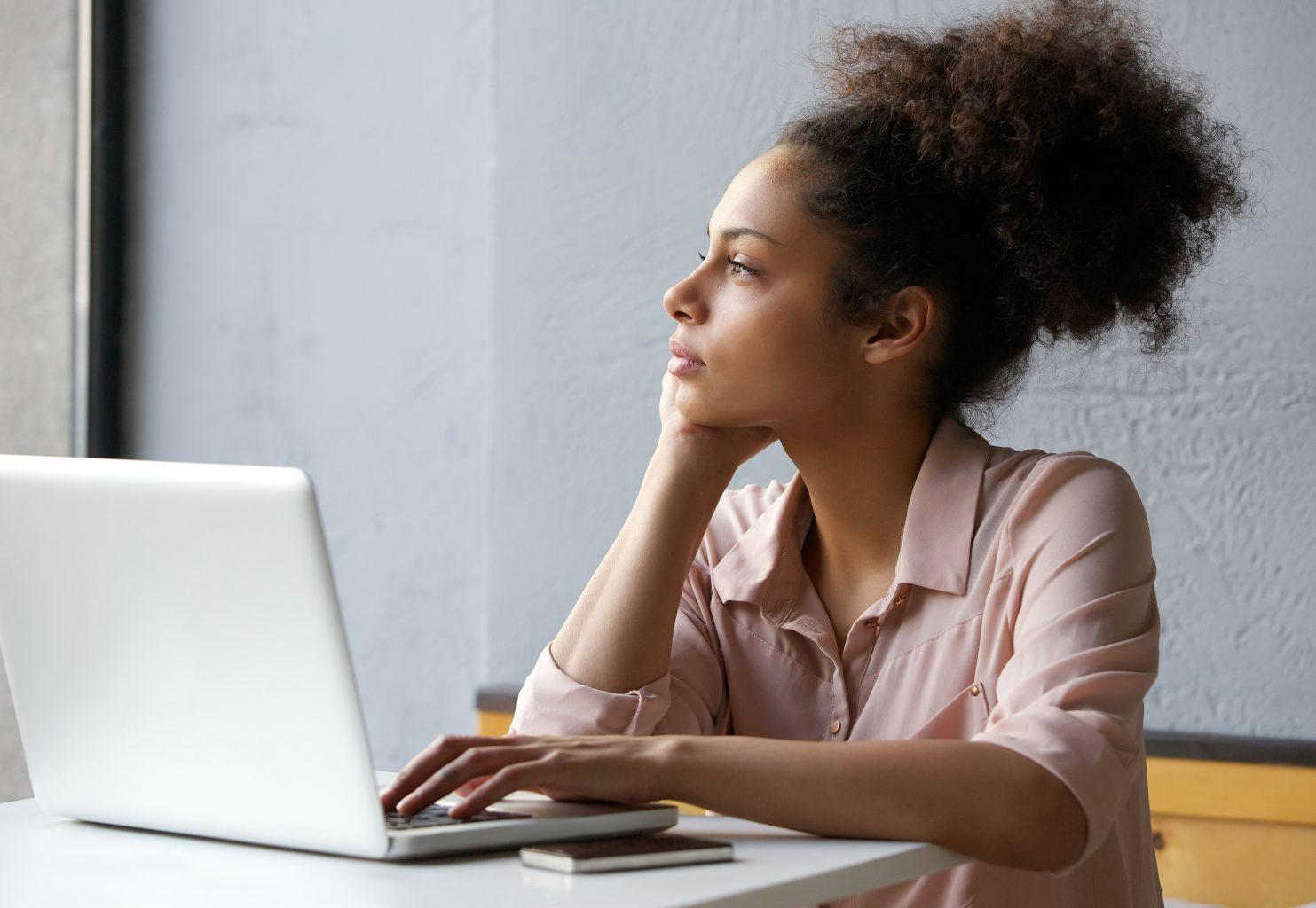 woman at the laptop