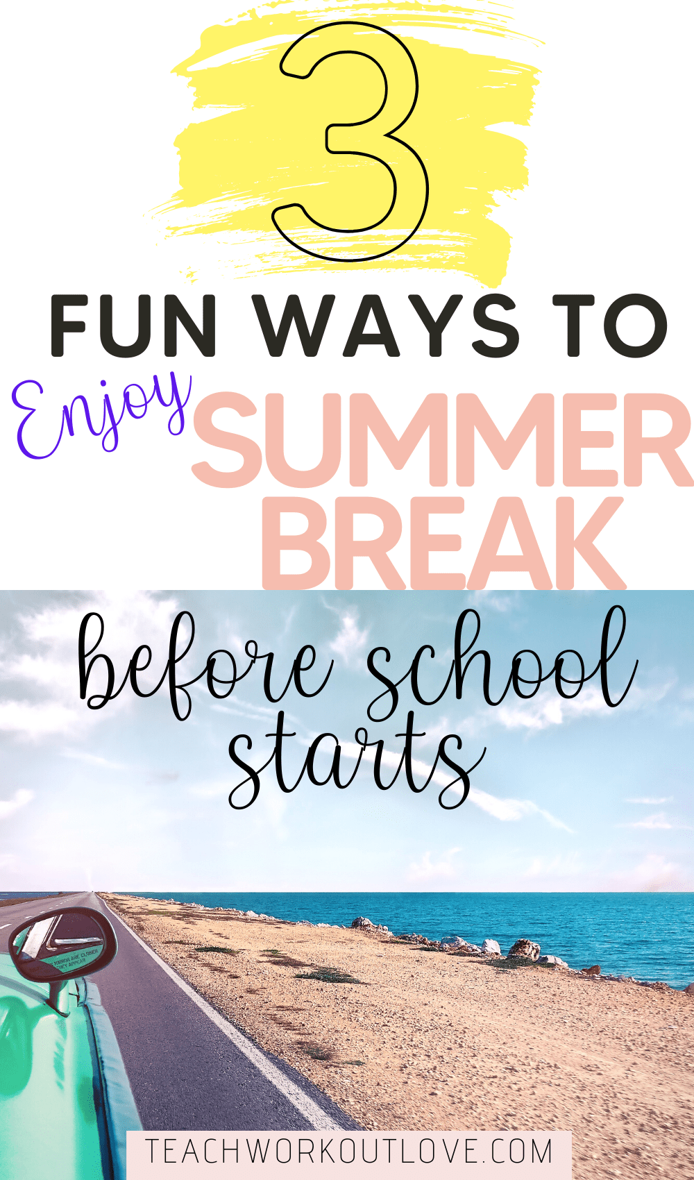 The best way to enjoy the end of summer is finding fun ways to spend with the family. Here's 3 fun ways to enjoy the summer break before back to school.