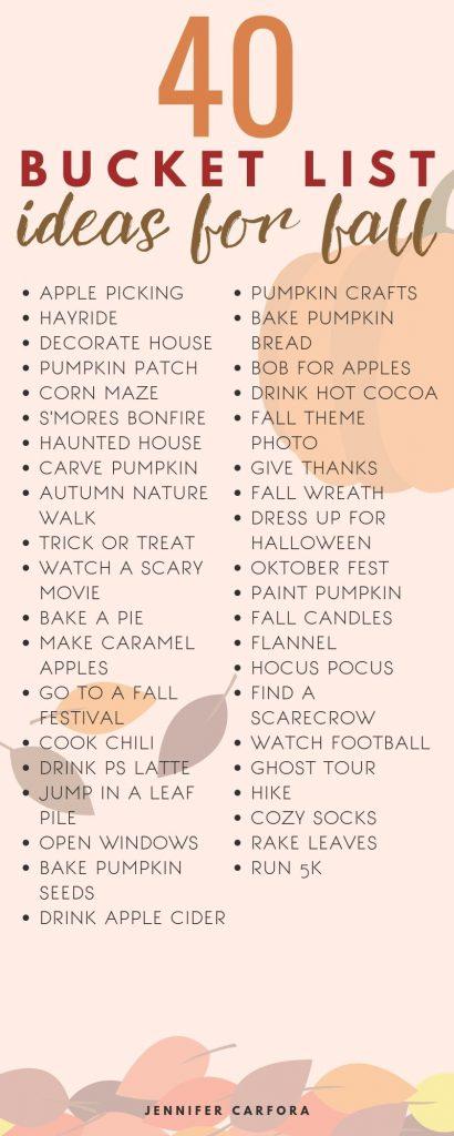 40 Fall Bucket List Ideas for Fall