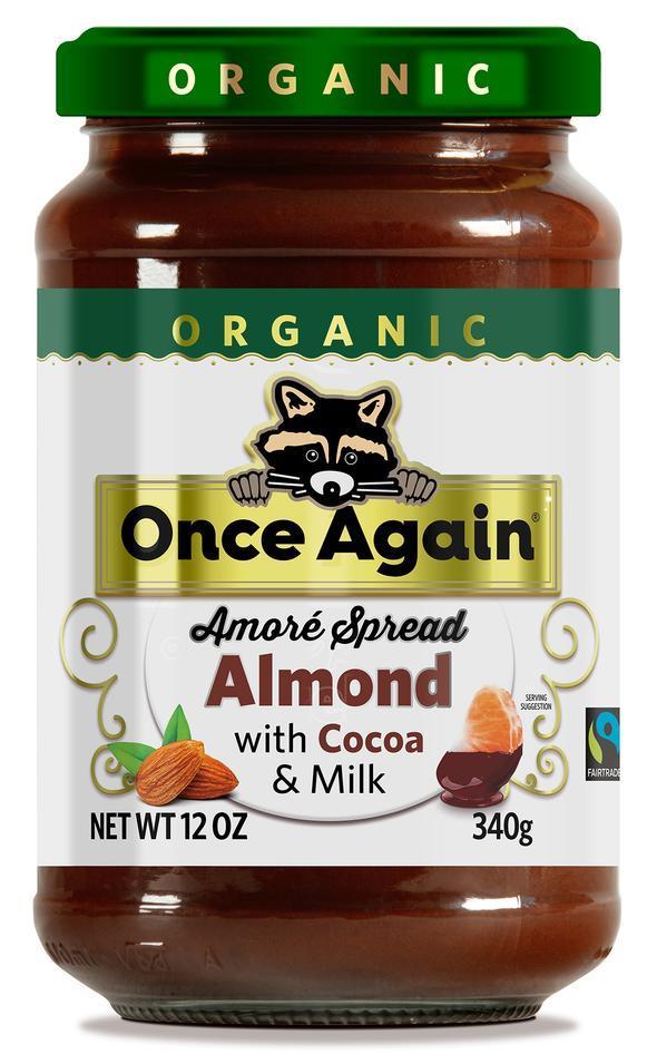 Once Again Amoré Organic Almond Spread