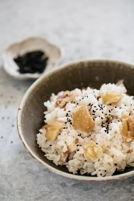 Japanese Chestnut Rice (Kurigohan)