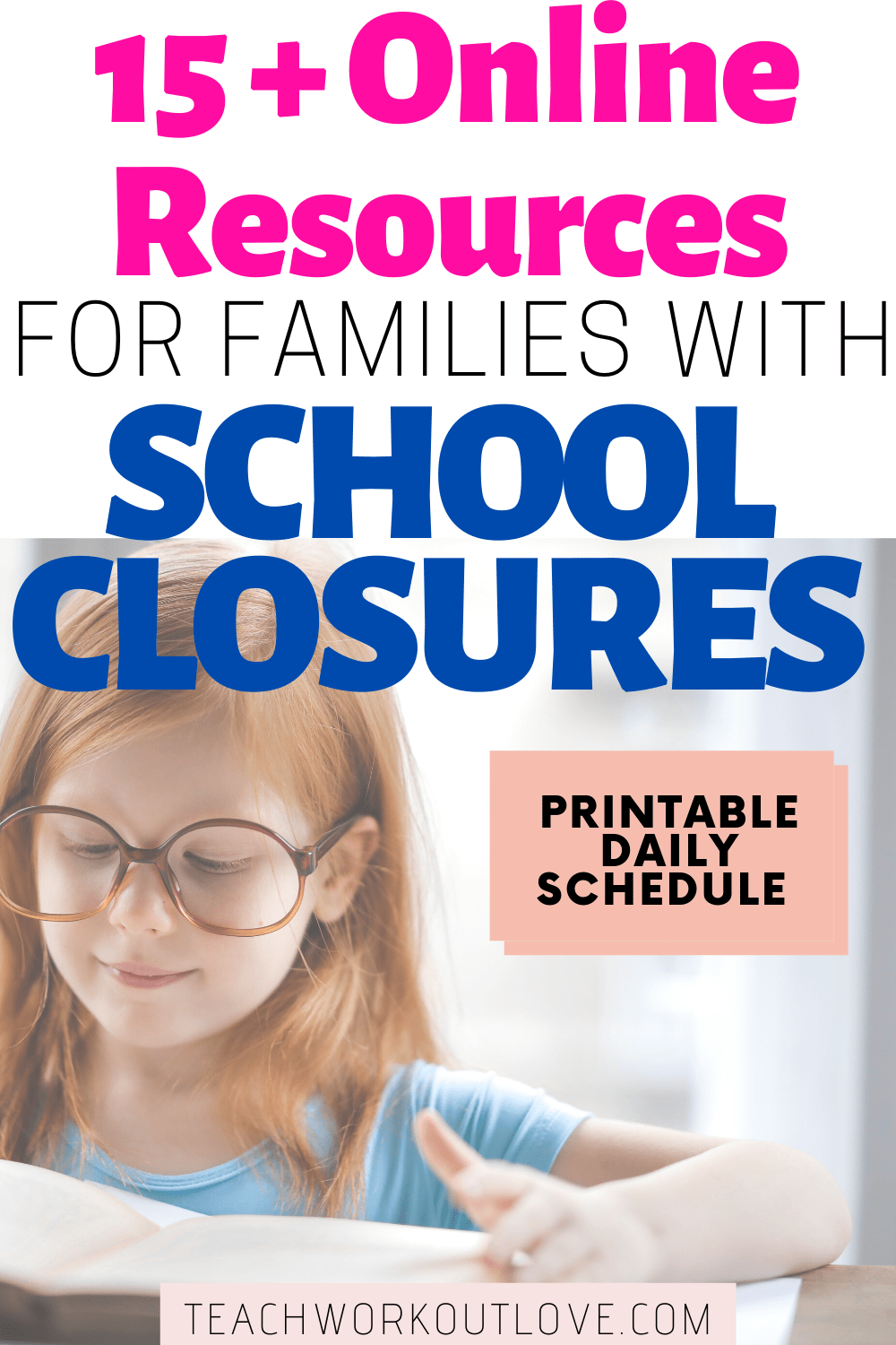 Is your kid's school closed? We created lists of activities & resources for families dealing with school closures + printable daily schedule.