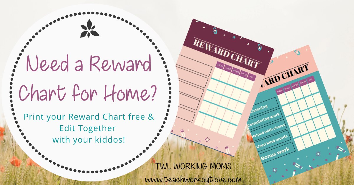 Reward chart printable