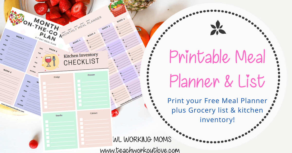 Printable Meal Planner & List