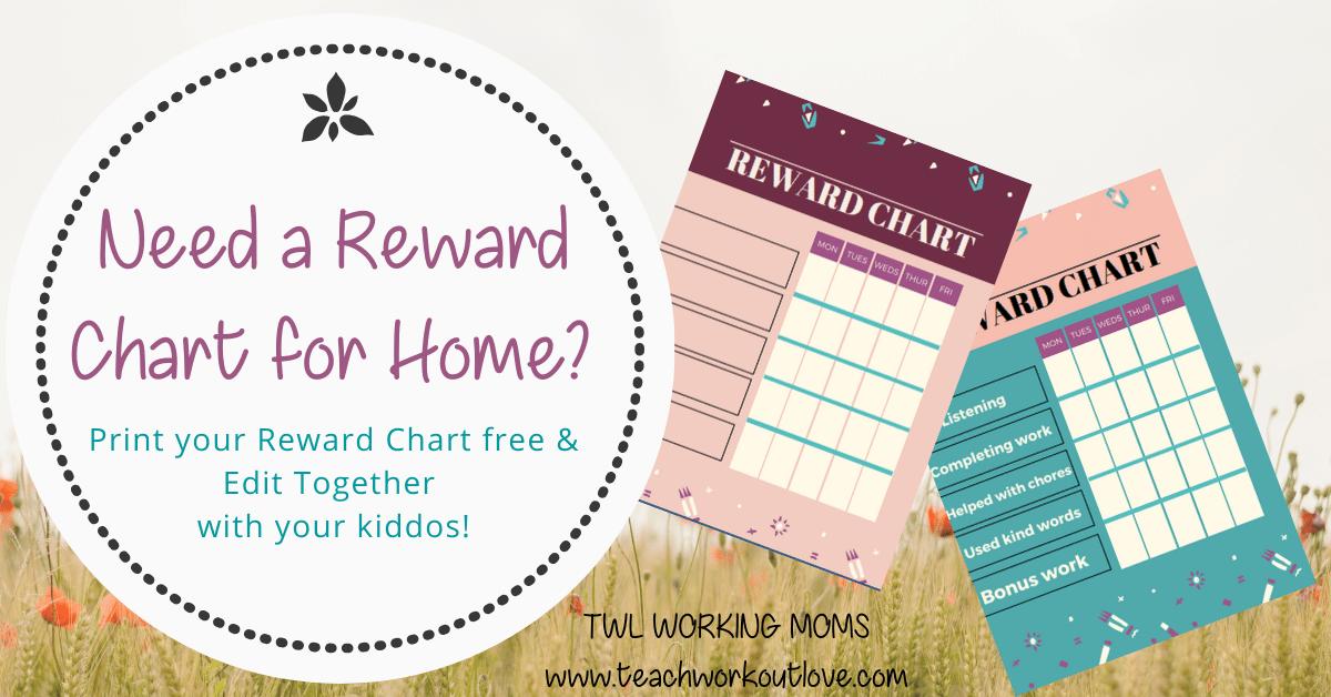 Reward Chart Printable