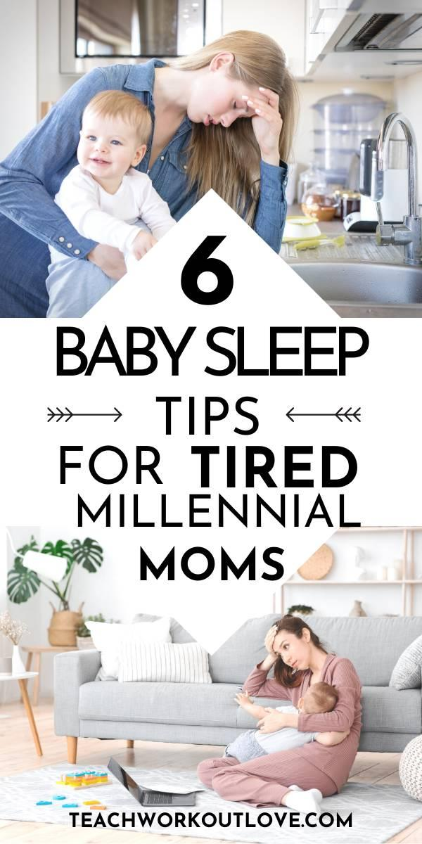 Proven baby sleep tips for sleep deprived millennial moms to resolve baby and toddler sleep challenges. 1-1 sleep coaching can help you.