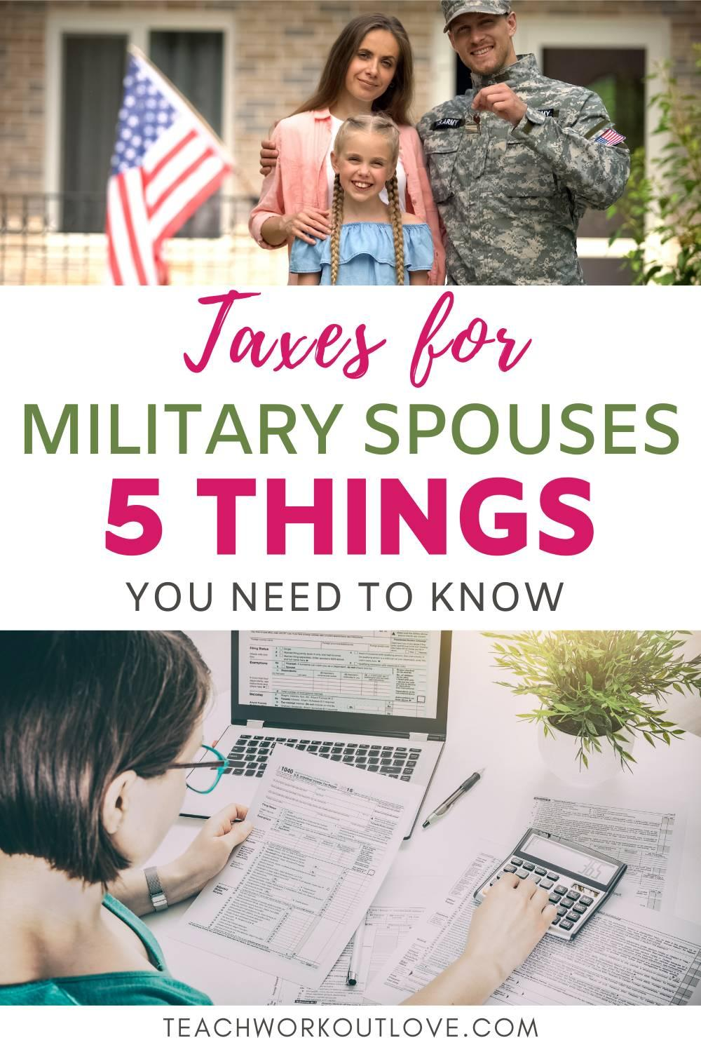 Here we have explained few strategies that may simplify your tax situation and help to reduce taxes for military spouses.