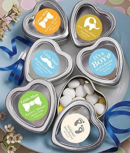 Silver Heart-Shaped Mint Tins