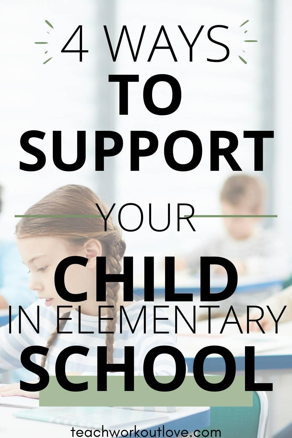 Here's some tips on how to be a supportive parent throughout your child's earliest days in school and help your child in elementary school.