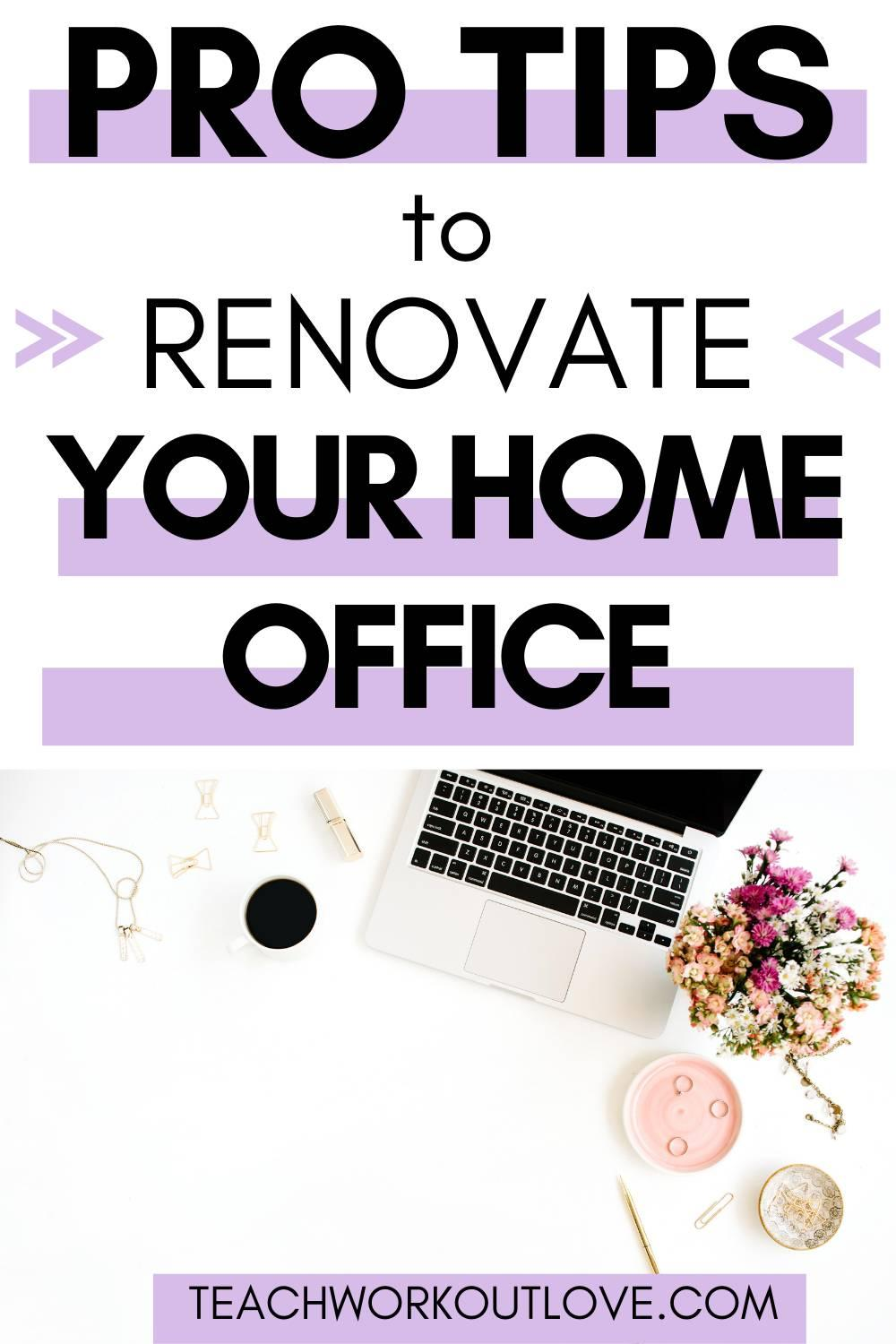 When you renovate your home office it can seem like an unnecessary and risky investment, but spending a lot of time in there, it's worth it!