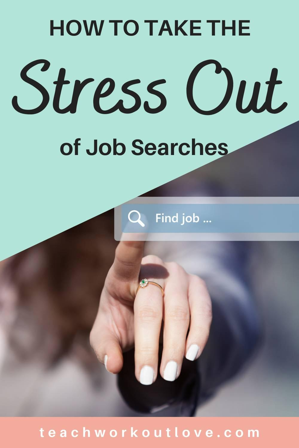 The search for a job can usually be stressful, which can bring about job search stress. Learn how to How To Take The Stress Out Of The Job Search.