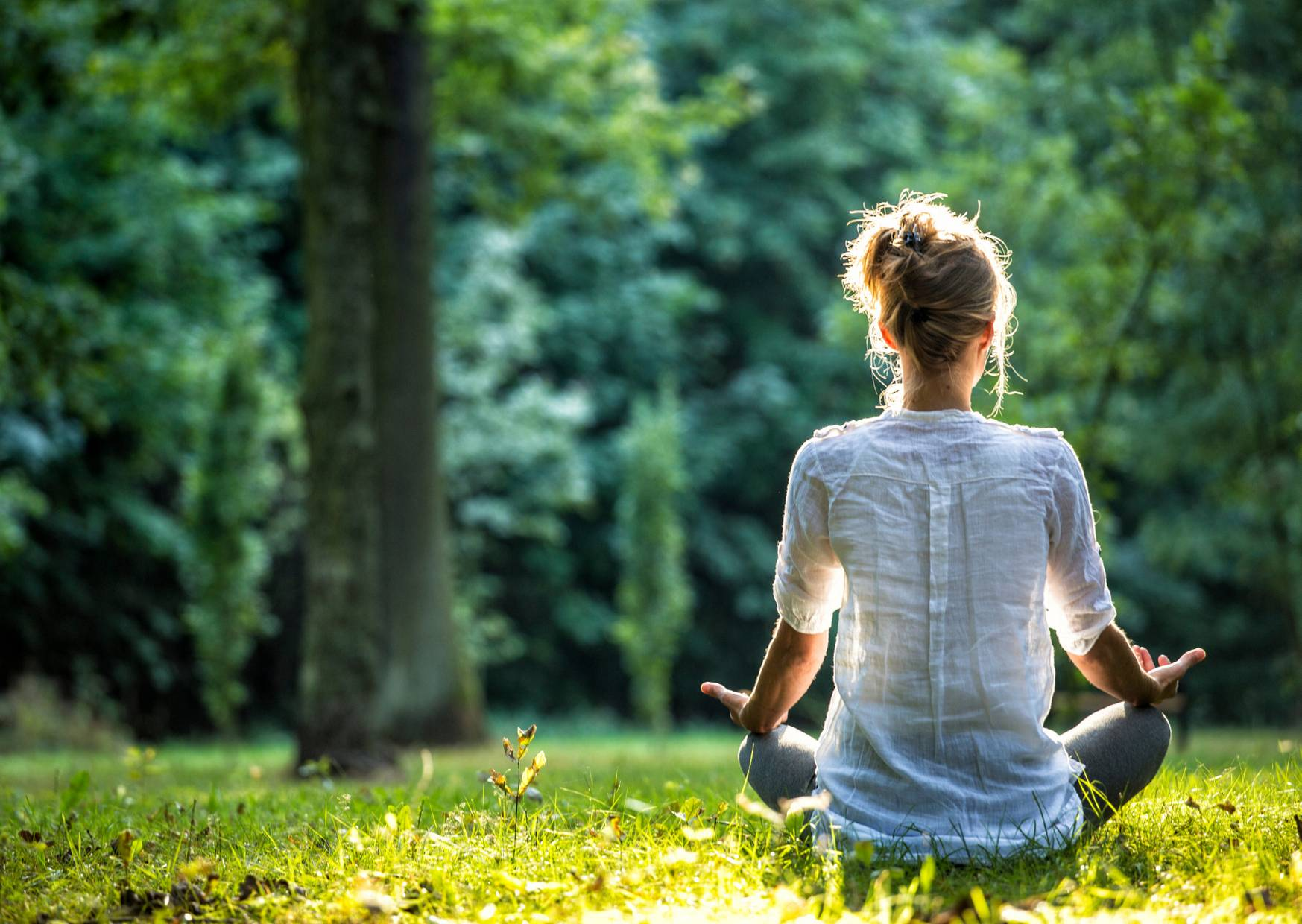 meditation helps when taking care of yourself