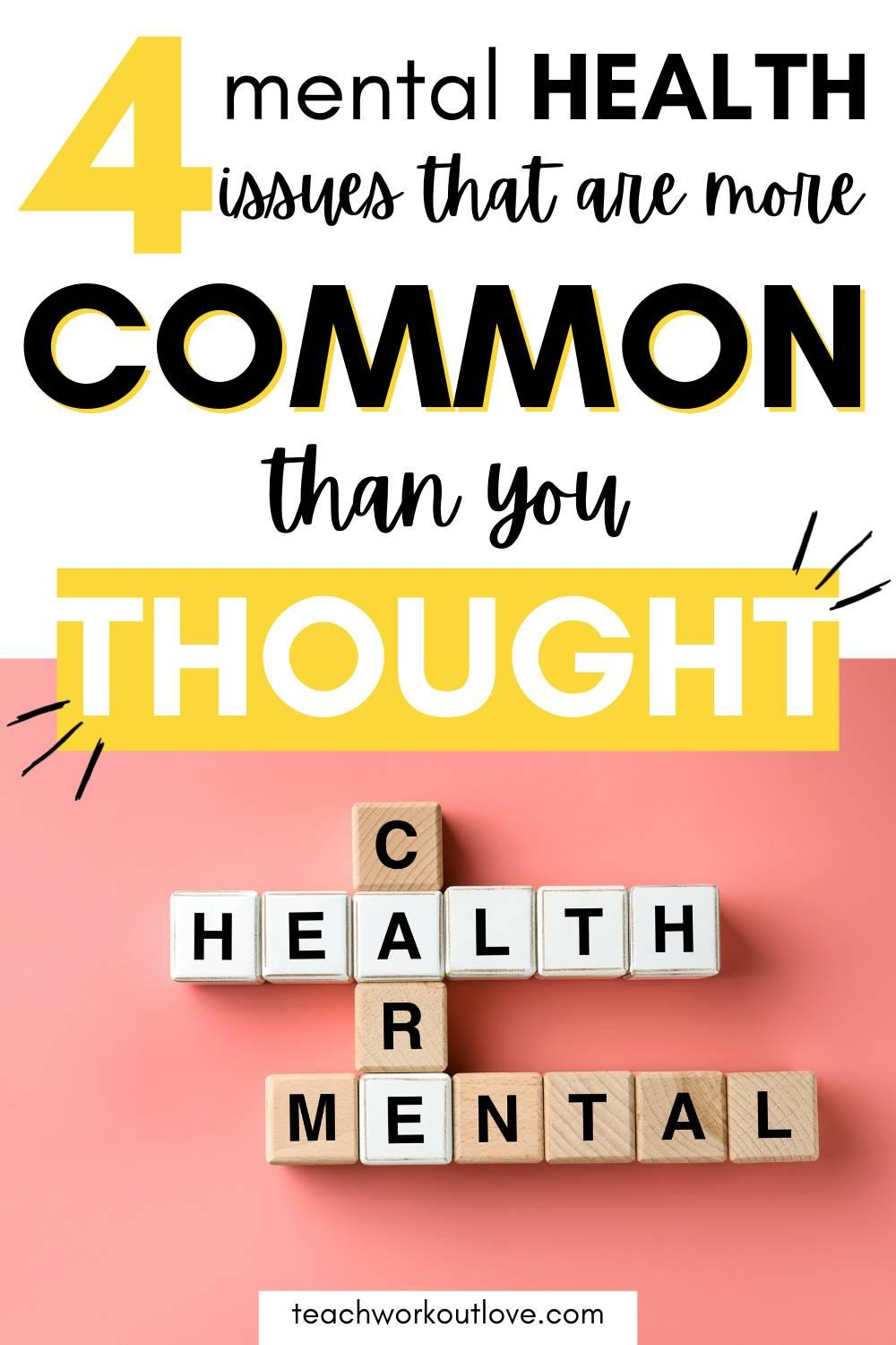 Mental health is still unfortunately seen as a taboo in society today. Here's some conditions that impact millions of people.