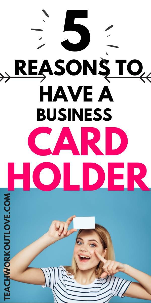 Business cards are a way to self-promote yourself and your business. Here are 5 reasons why you need to have one with you.