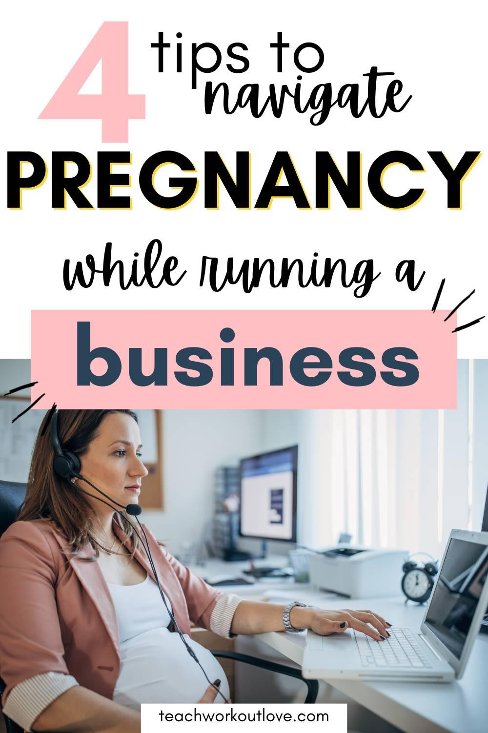 Running a business is tough the best of times, but what about running a business when you're pregnant? Here's how to do it: