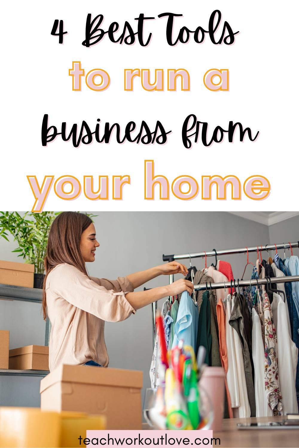 There's many perks to working from home. The good news for those worried about running a home business is that various tools can help you.