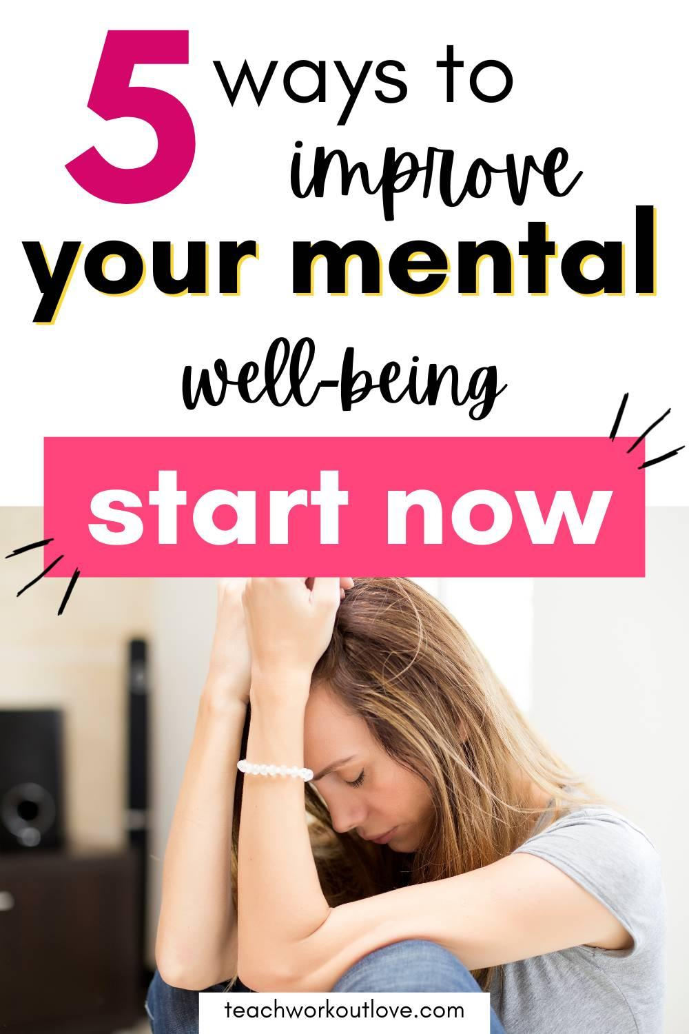 Here's how to work to improve how you feel mentally takes great strength especially when it comes to working your way through depression.