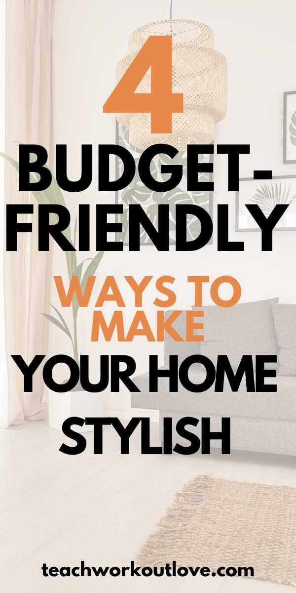 The biggest thing holding most of us back from re-styling our home is the cost that is involved. If you really want to do a home makeover you're going to need to break your piggy bank and get spending. Or, do you? We think not. You can style your home to your heart's content but in budget-friendly ways.