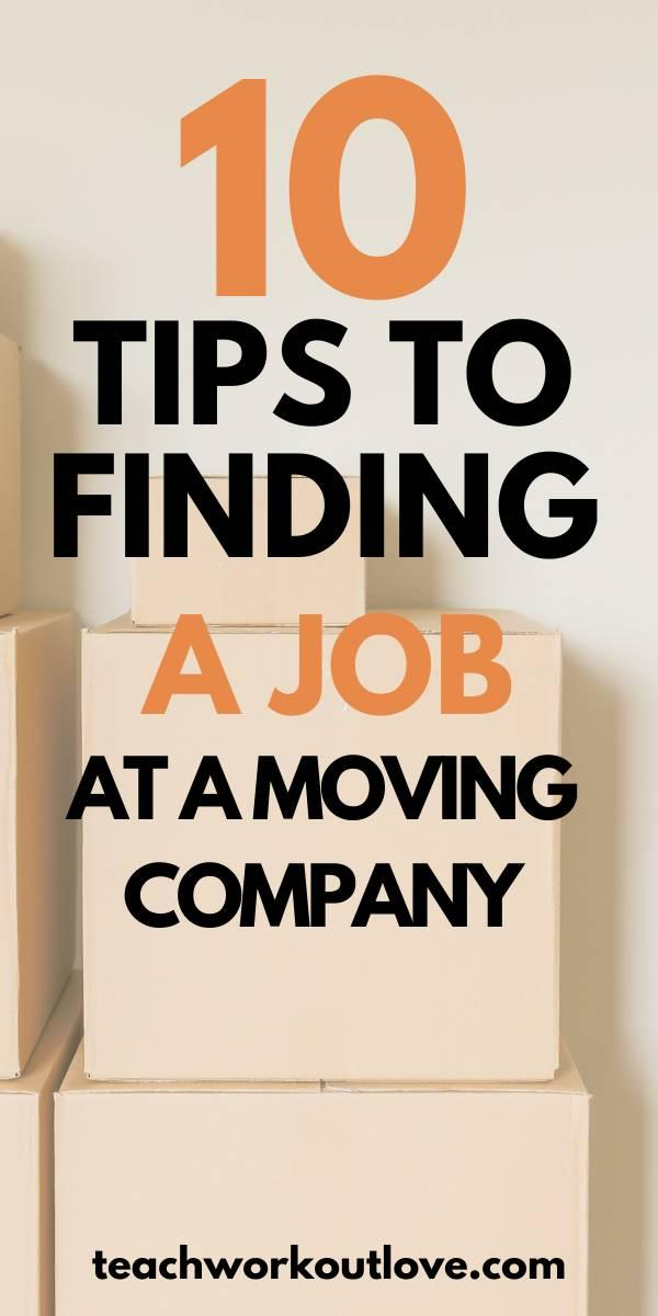 If you're struggling to find a job, a moving company job might be the perfect place for you. The growth of this sector is projected to continue in the near future, and many companies regularly need employees. But how do you get a leg up in an industry with so many qualified candidates?