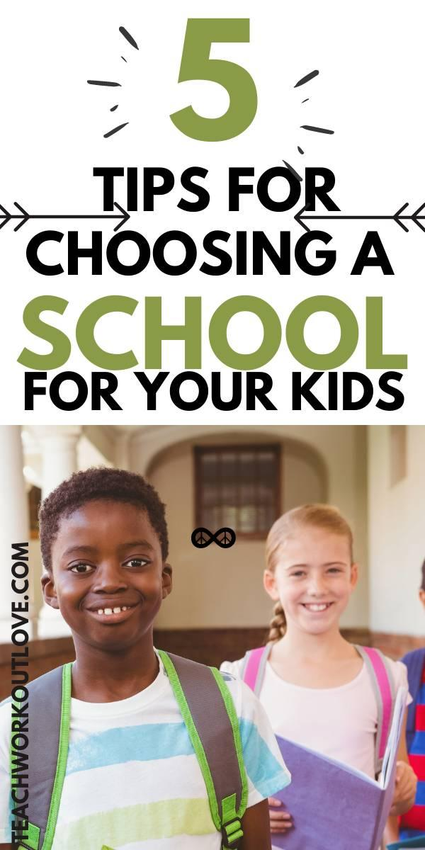 Choosing where your children go to school is a big decision.  So here are some tips to consider for when it comes to choosing the right school for your child.